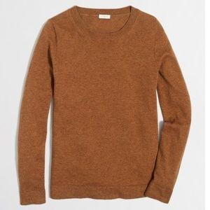 J Crew Cotton-wool Teddie Sweater in Camel S Tan